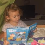 Kid Reading Finding Dory Soundbook