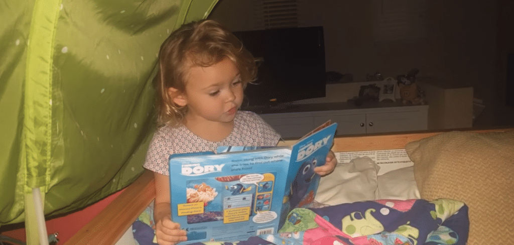 Kid Reading Finding Dory Soundbook