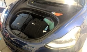 Model 3 Frunk Road Trip Packing